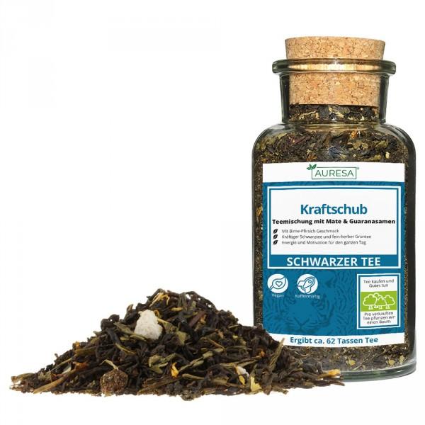 Loose tea mixture Kraftschub in the glass