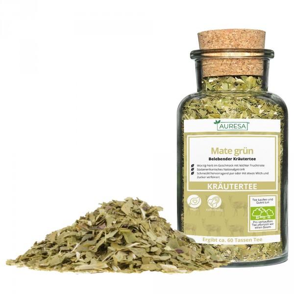 Loose herbal tea Mate with glass